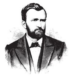 general ulysses s grant vintage vector image
