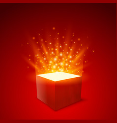 gift box background box strat fly gift red vector image vector image