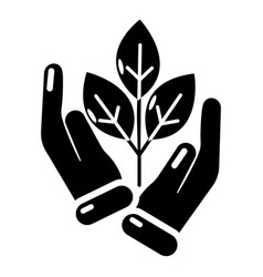 hand sprout icon simple black style vector image vector image