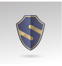 Security emblem s sign vector