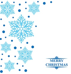 snowbeads blue vector image vector image