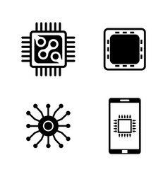 electronics simple related icons vector image vector image