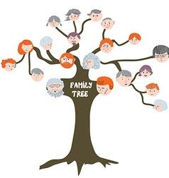 Family tree - funny cartoon vector image vector image