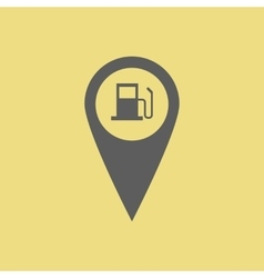 Gas station pin vector image vector image