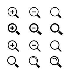 search icon magnifier glass and zoom vector image