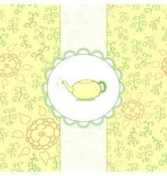 Tea Retro Background vector image vector image