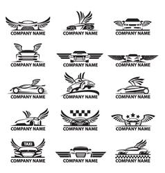 car icon set vector image