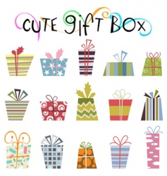 cute gift boxes vector image vector image