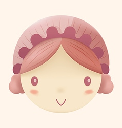 Doll Cute Head Cartoon Design vector image