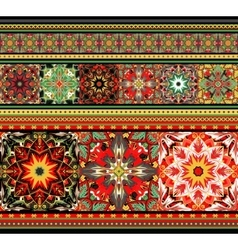 embroidered good like handmade cross-stitch ethnic vector image