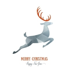 Merry Christmas card creative decoration with vector image