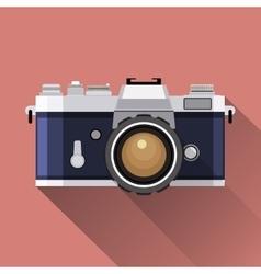 Retro Camera flat icon vector image vector image