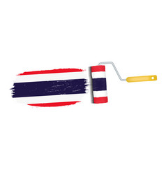 brush stroke with thailand national flag isolated vector image vector image