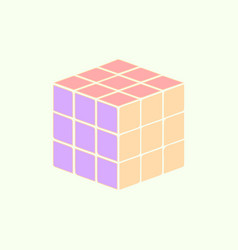 Cube toy puzzle vector
