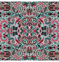 Ethnic seamless background floral pattern in vector image vector image