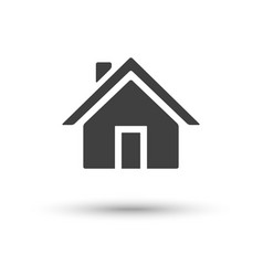 home house icon isolated on white background vector image vector image