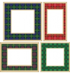 set of the wooden frames vector image vector image