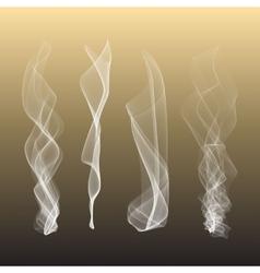 Smoke background steam isgenerated vector