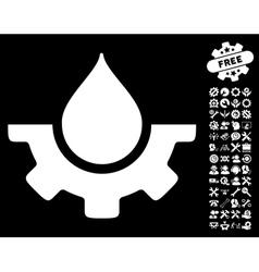 Water Service Icon With Tools Bonus vector image