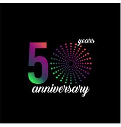 50 year anniversary firework template design vector