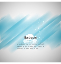 abstract blue background with blurred watercolor vector image