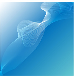 abstract blue line curve background graphic vector image