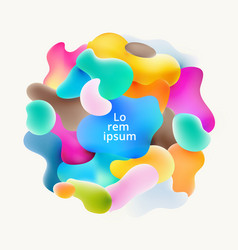 abstract fluid colorful bubbles shapes overlap on vector image