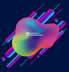 abstract fluid modern style colorful 3d rounded vector image