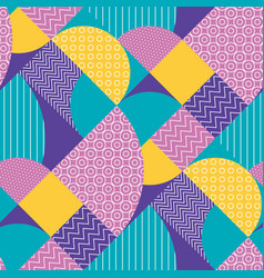 Abstract multicolored geometric pattern i vector