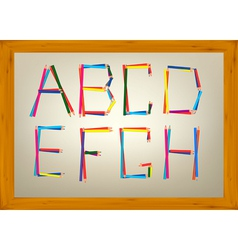alphabet design vector image