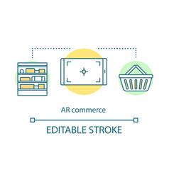 Ar commerce concept icon vector
