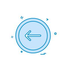 arrow button icon design vector image