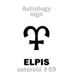 Astrology asteroid elpis vector