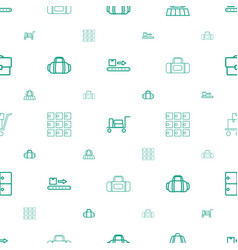 Baggage icons pattern seamless white background vector