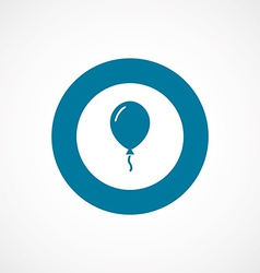 Balloon bold blue border circle icon vector