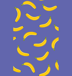 banana seamless pattern on a purple background vector image