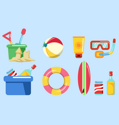 beach holiday stuff graphic vector image