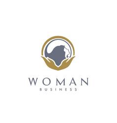 beauty woman hair facial care salon spa logo vector image