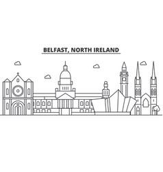 Belfast north ireland architecture line skyline vector