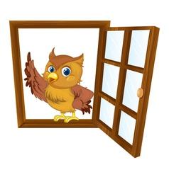 Bird in a window vector