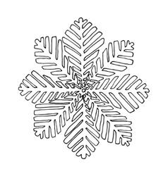 Black mono color with Snoflake vector image