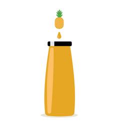 bottle of juice flat vector image