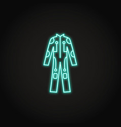 bright cybersuit icon in glowing neon style vector image