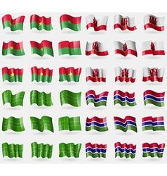 Burkia Faso Gibraltar Ladonia Gambia Set of 36 vector
