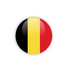 Button belgium flag template design vector