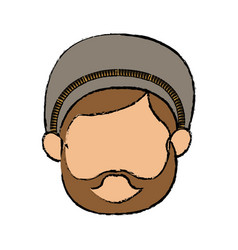 Cartoon cute face shepherb manger character vector