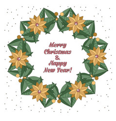 christmas wreath in doodle style vector image