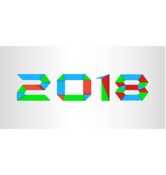colorful new year 2018 background vector image