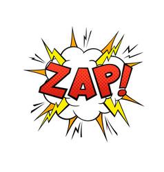 comics balloon zap text cartoon speech bubble vector image