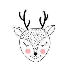 Cute adorable deer vector